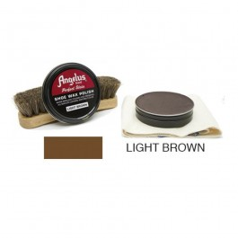 Angelus Shoe Wax Polish Light Brown