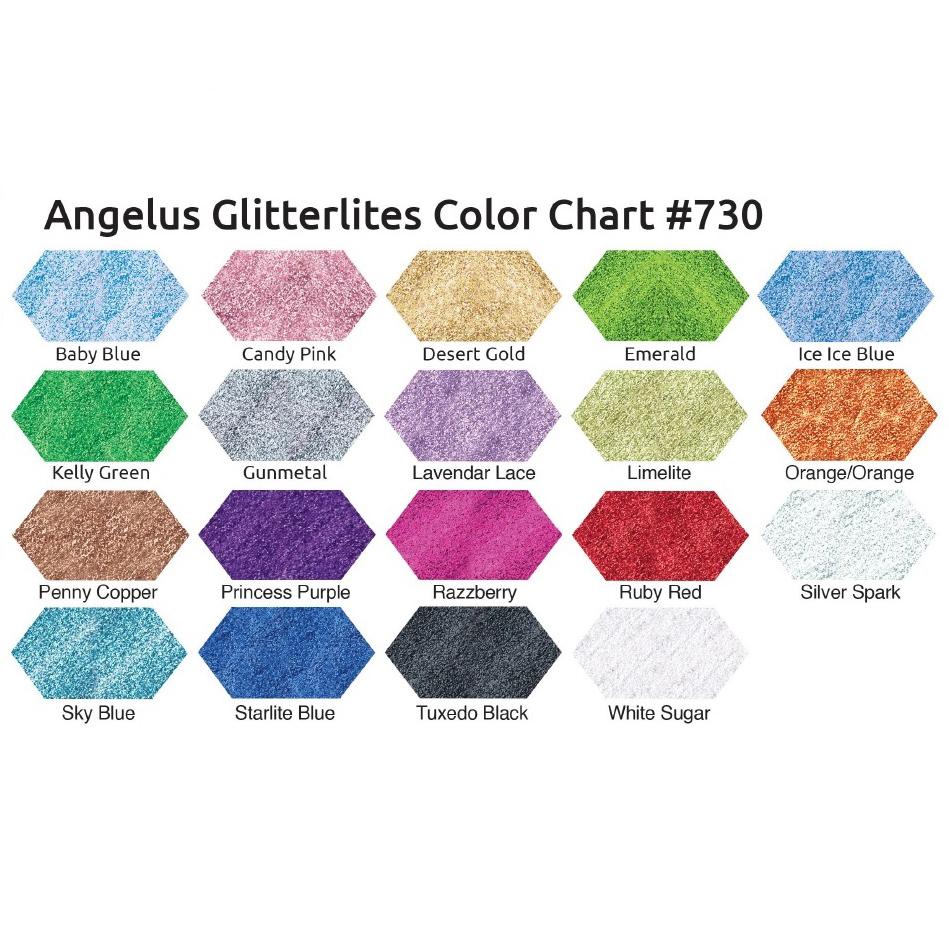 Angelus Glitterlites Colour Chart