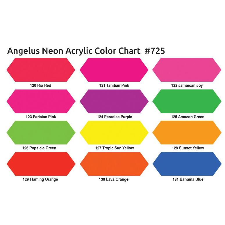 Angelus Neon Colour Chart