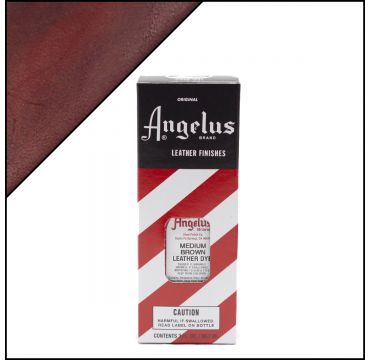 Angelus Leather Dye Medium Brown 3oz