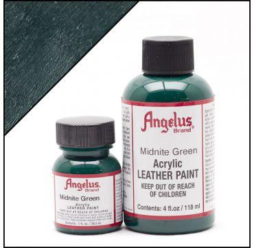 Angelus Leather Paint Midnight Green