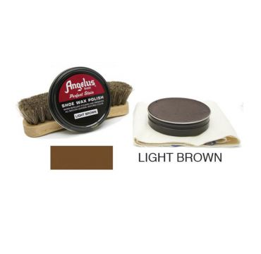 Angelus Shoe Wax Polish Light Brown